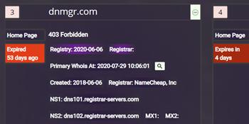 Domain, SSL and DNS Monitoring